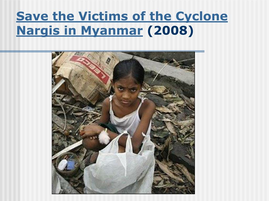 Save the Victims of the Cyclone Nargis in Myanmar