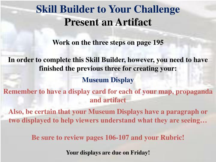 Skill Builder to Your Challenge