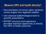 measure hrv and health directly