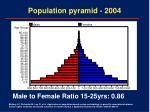 population pyramid 2004