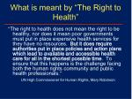 what is meant by the right to health