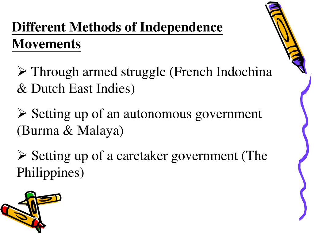Different Methods of Independence Movements