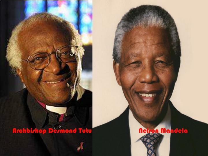 Archbishop Desmond Tutu                           Nelson Mandela