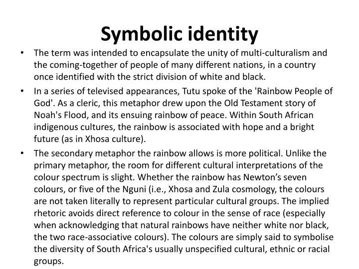 Symbolic identity