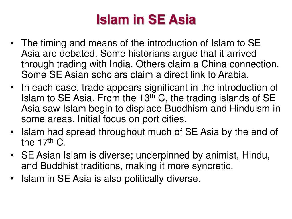 Islam in SE Asia