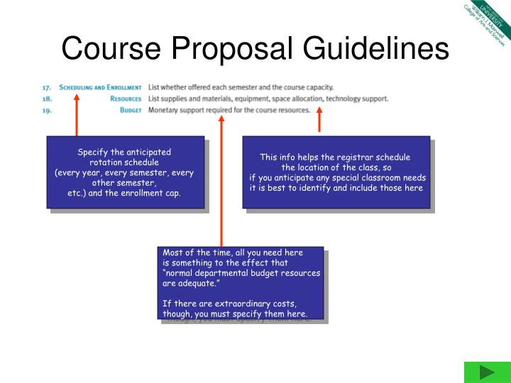 course proposal