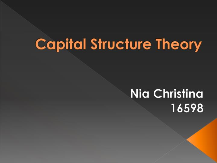 capital structure of a firm In general, the optimal capital structure is a mix of debt and equity that seeks to lower the cost of capital and maximize the value of the firm to calculate the optimal capital structure of a firm, analysts calculate the weighted average cost of capital (wacc) to determine the level of risk that makes the expected return on capital greater.