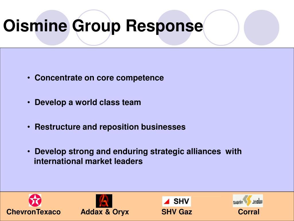 Oismine Group Response