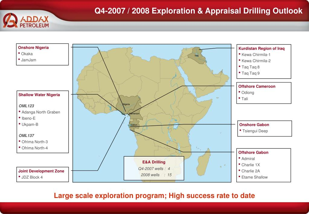 Q4-2007 / 2008 Exploration & Appraisal Drilling Outlook