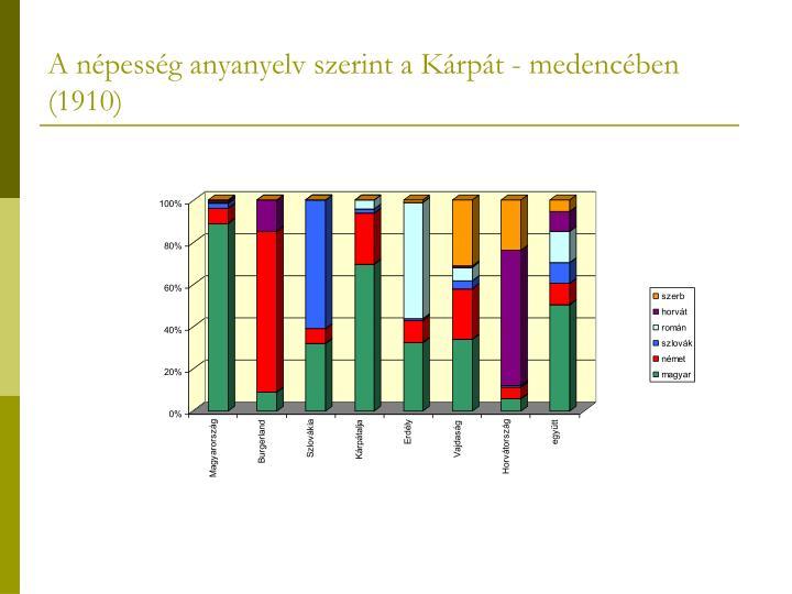 A népesség anyanyelv szerint a Kárpát - medencében (1910)