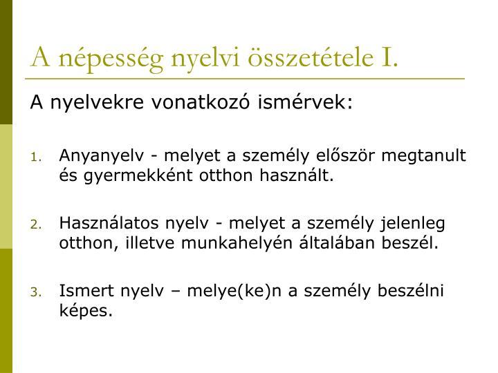 A n pess g nyelvi sszet tele i