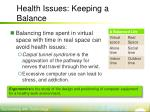 health issues keeping a balance