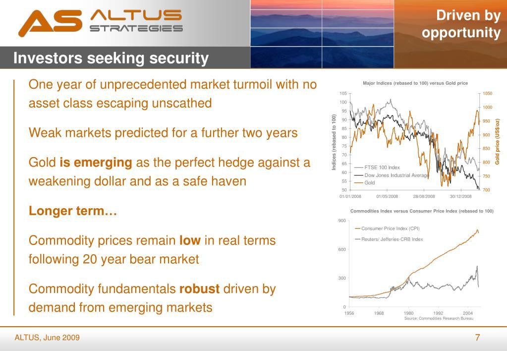 Investors seeking security