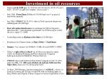 investment in oil resources