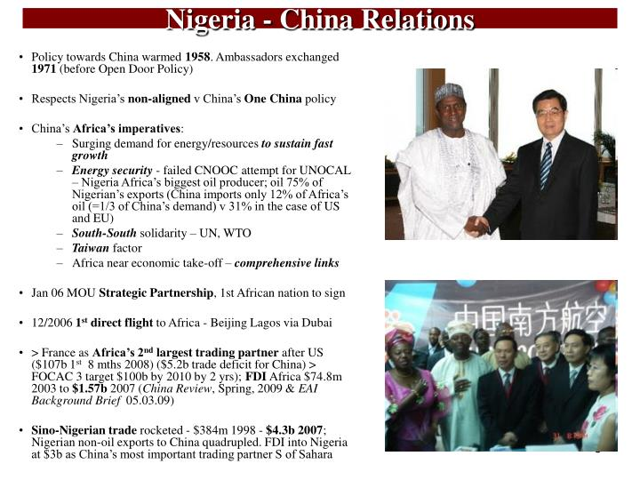 Nigeria china relations