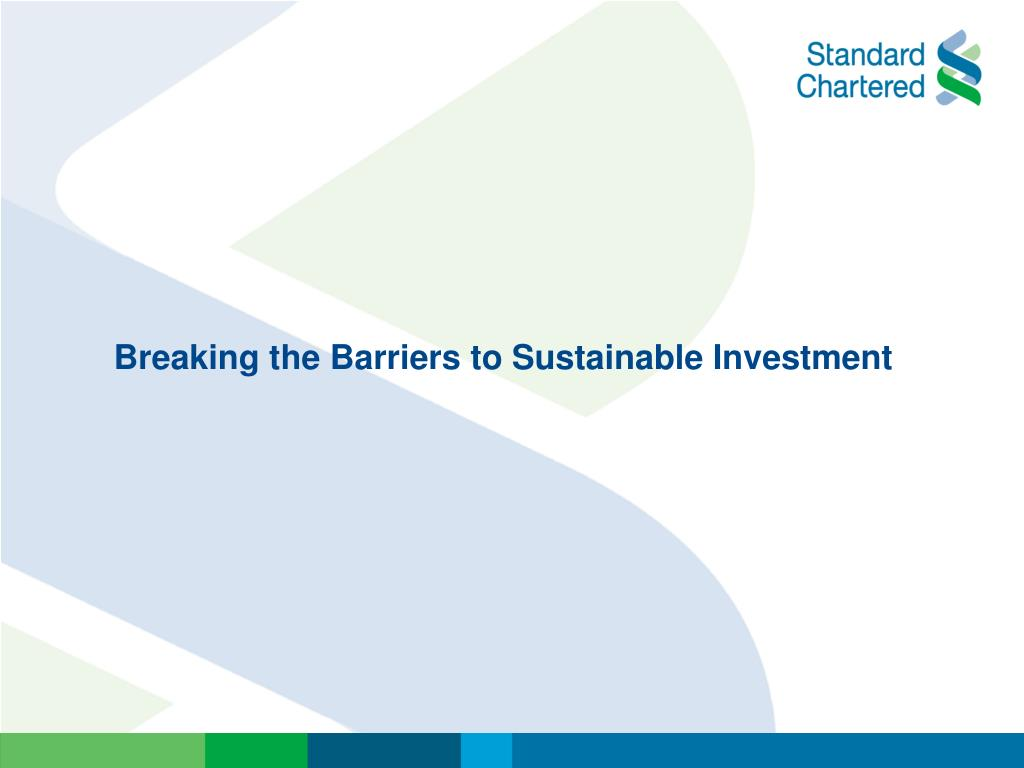 Breaking the Barriers to Sustainable Investment