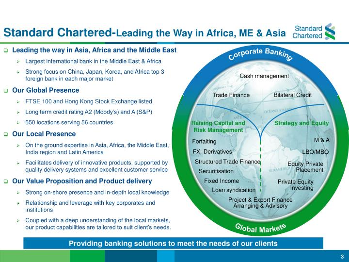 Standard chartered leading the way in africa me asia