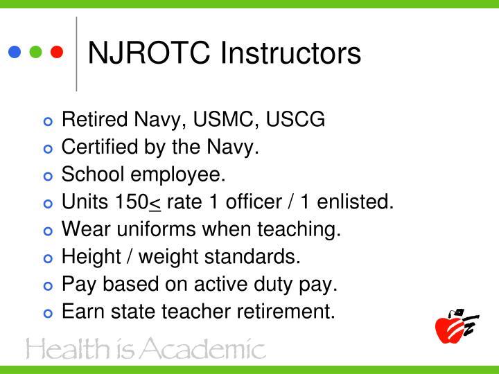 NJROTC Instructors