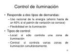 control de iluminaci n