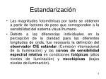 estandarizaci n