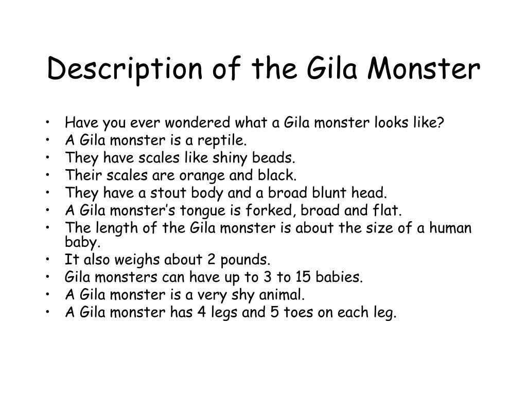 Description of the Gila Monster