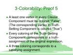 3 colorability proof 5