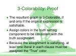 3 colorability proof
