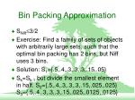 bin packing approximation10