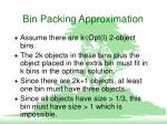bin packing approximation5