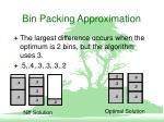 bin packing approximation9