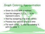 graph coloring approximation