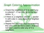 graph coloring approximation1