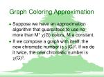 graph coloring approximation10