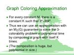 graph coloring approximation11
