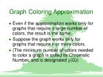 graph coloring approximation5