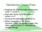hamiltonian circuit proof