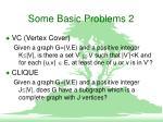some basic problems 2