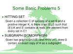 some basic problems 5