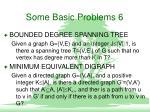 some basic problems 6