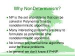 why nondeterminism