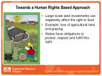 towards a human rights based approach