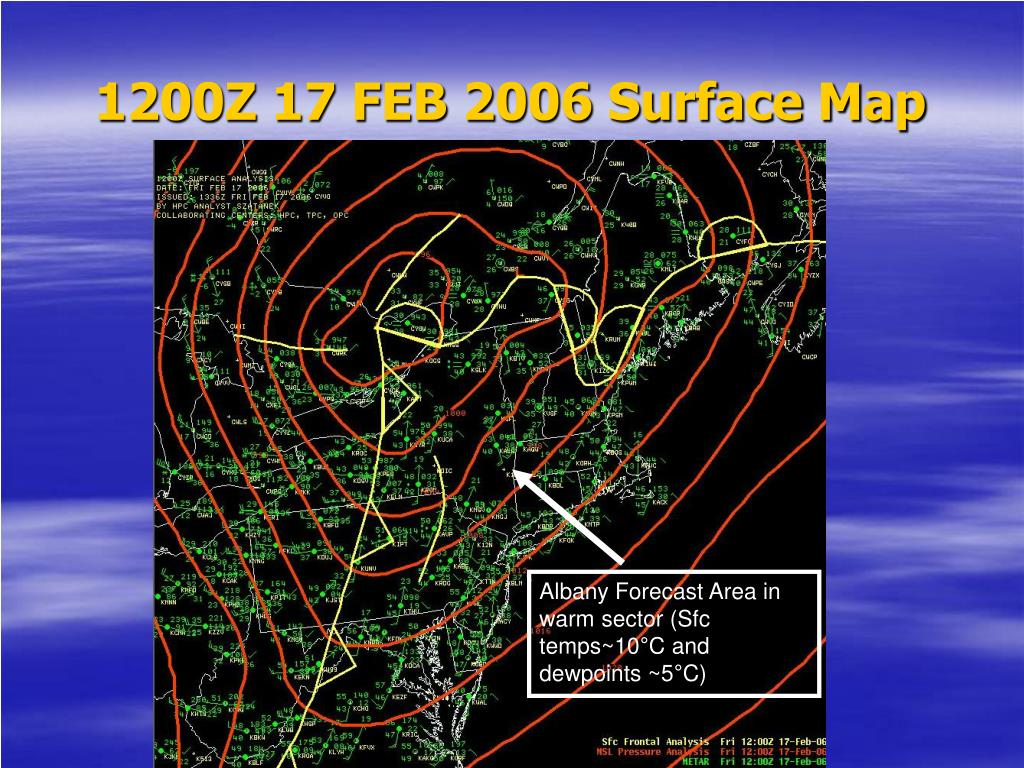 1200Z 17 FEB 2006 Surface Map