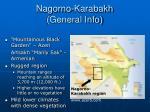 nagorno karabakh general info
