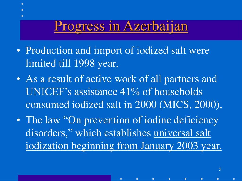 Progress in Azerbaijan