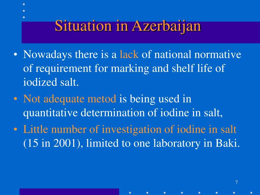 Situation in Azerbaijan