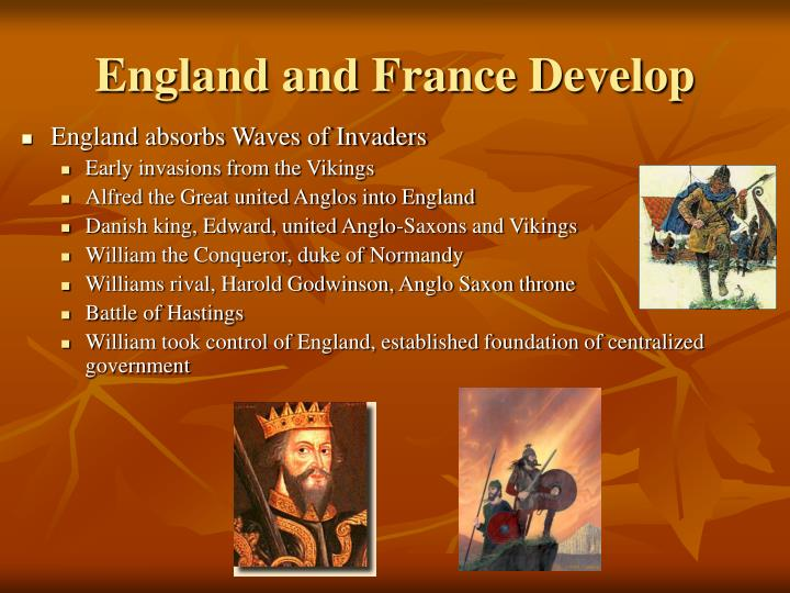 england and france develop n.