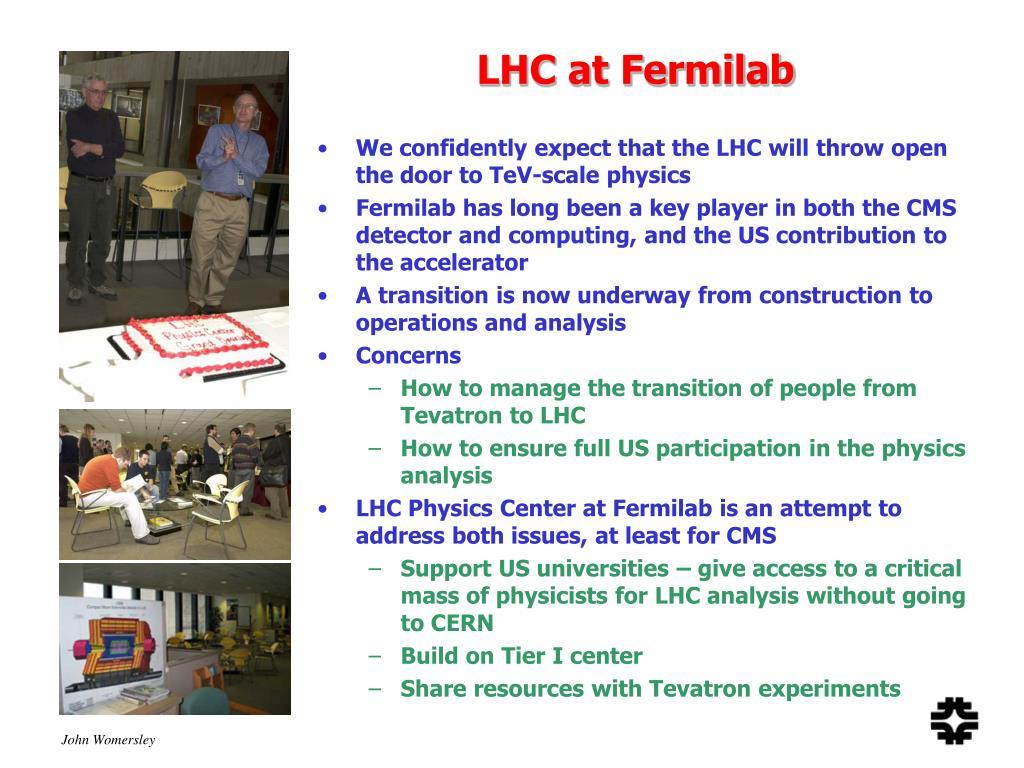 LHC at Fermilab