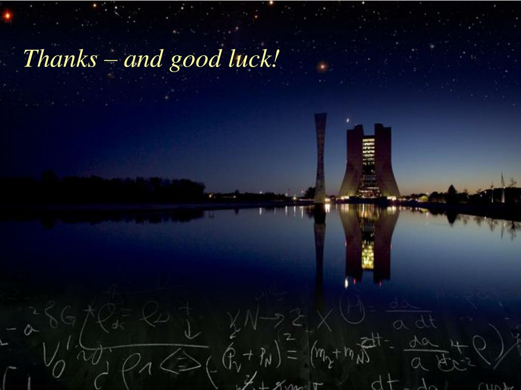 Thanks – and good luck!