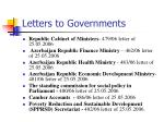 letters to governments