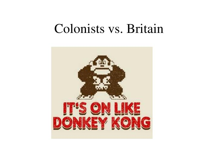 Colonists vs. Britain